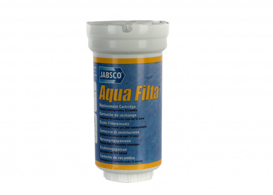 "Original replacement filter cartridge for the ""Aqua Filta"" water filter by Jabsco."