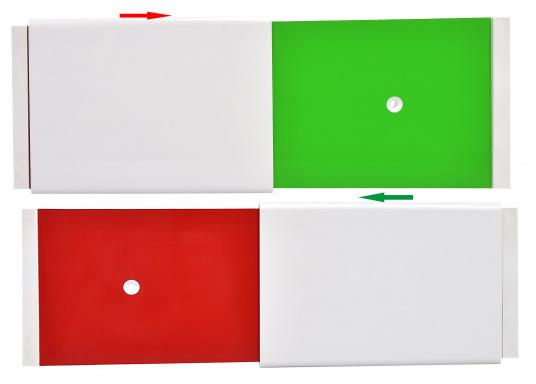 Panneau pour marquer votre place au ponton Il évite que des bateaux de passage ne viennent s'amarrer à votre place. Passer facilement du vert au rouge, il est clairement visible de loin. Livré sans la visserie.