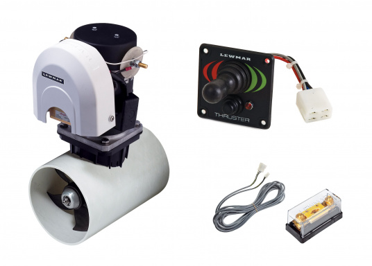 The Lewmar bow thrusters are supplied as a set with tunnel, control panel, fuse, attachment and connection cable. (Image 3 of 5)