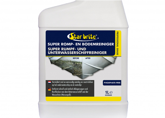 Quickly and easily removes deposits and rust stains from the hull and the waterline. Water-based, environmentally friendly, biodegradable formulation. (Imagen 2 of 2)