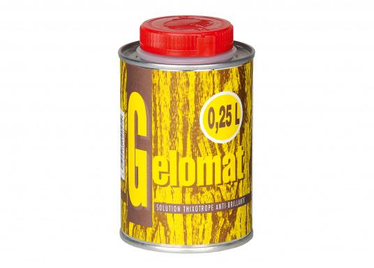 Das Gelomat - Mattierungsmittel dient als Beimischung zum Satinieren von Bootsöl-Lacken. Je nach gewünschtem Mattierungsgrad 10-50% zum Bootsöl-Lack hinzu mischen. Inhalt: 250 ml.