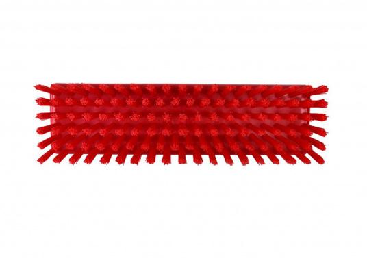 Passende, harte Schrubberbürste ohne Wasserdurchlass für die Schrubberstiele mit einer Steck- und Schraubverbindung. Farbe: rot. (Bild 2 von 2)