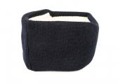 Headband with ear protection / navy blue