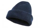 Berretto di lana lavorato a maglia / blu navy