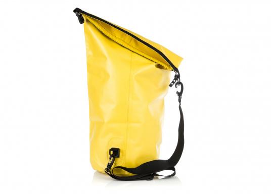 Wasserdichter Seesack aus hochwertigem PVC mit abnehmbaren Schultergurt. Rollschließmechanismus mit Clipverschluss. Ideal zum Schutz von persönlichen Wertgegenständen.