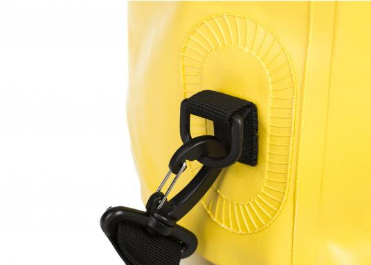 Wasserdichter Seesack aus hochwertigem PVC mit abnehmbaren Schultergurt. Rollschließmechanismus mit Clipverschluss. Ideal zum Schutz von persönlichen Wertgegenständen. (Bild 3 von 4)
