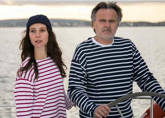 Gestreiftes Bretonisches Damen-Shirt mit Langarm und U-Boot Halsausschnitt. Mit seitlich geschlitztem Bund. Durch die elastisch gewirkte Baumwolle ist das Shirt sehr angenehm auf der Haut zu tragen. (Bild 5 von 7)