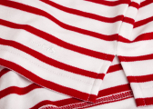 Breton ladies shirt / white-red