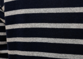 Breton mens shirt / blue-gray melange