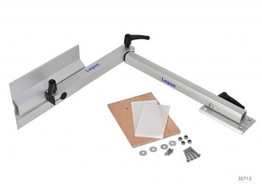 Eine praktische Lösung! Diese Konstruktion bietet variable Möglichkeiten: Das Untergestell LAGUN lässt sich heben und senken und ist dreh- und schwenkbar. Es ist platzsparend und leicht zu montieren.