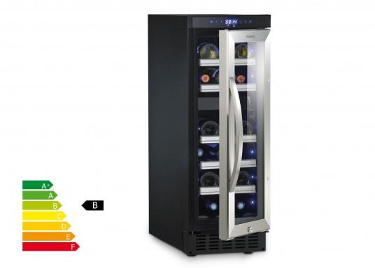 Der Weinkühlschrank D15 der Marke Dometic wird Sie mit seiner professionellen Genauigkeit und seinem unverkennbaren Design überzeugen. Ausgestattet mit einer Zwei-Zonen-Temperatursteuerung bietet der D15 Platz für bis zu 17 Weinflaschen.