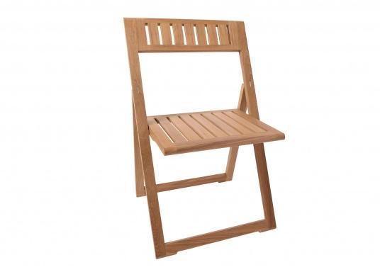 Hochwertiges Teak Möbel-Set, bestehend aus einem Klapptisch (70 x 50 cm) und zwei Klappstühlen (53 x 47 x 78 cm). (Bild 7 von 9)