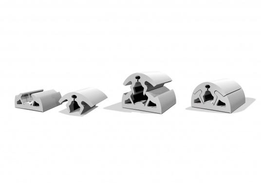 Scheuerleiste in modernem Design speziell für die Schifffahrt. Die flexible Leiste lässt sich in minutenschnelle montieren. Die Länge kann individuell gekürzt werden. Länge: 12 m. (Bild 5 von 5)