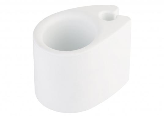 Der Universalhalter eignet sich perfekt zum Halten Getränken, Handys, Brillen, etc. Er kann einfach an die Reling angesteckt werden, somit wird kein Montagematerial benötigt. (Bild 2 von 3)