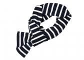 Sciarpa in stile Breton / bianco-blu