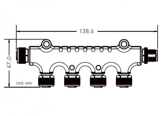 NMEA2000 Micro-C 4-fach Verteiler zum Anschluss mehrerer Geräte an das NMEA2000 Netzwerk. (Bild 5 von 5)