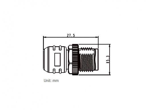 Endwiderstand für das NMEA2000 Netzwerk. Zum Abschluss an der Backbone-Leitung wird an jedem Ende ein Endwiderstand benötigt. In männlicher und weiblicher Ausführung erhältlich. (Bild 4 von 5)