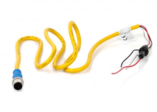 Hier bieten wir Ihnen ein passenden Stromkabel inkl. Sicherung zur Stromversorgung des NMEA2000 Netzwerkes an. Die Kabellänge beträgt 1 m.