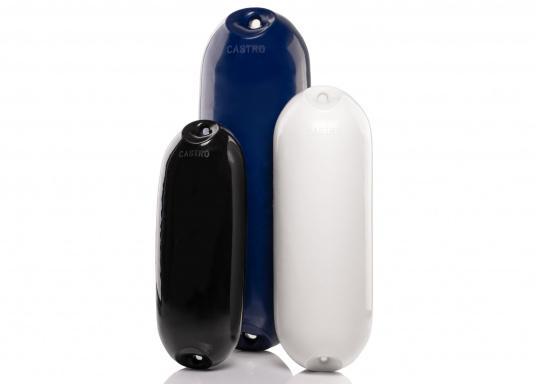 Les pare-battages de la gamme NFD sont moulés en une seule pièce et possèdent deux oeillets renforcés, afin d'être utilisés aussi bien à la verticale qu'à l'horizontale. Très résistants à l'abrasion et aux UV. (Image 2 de 2)
