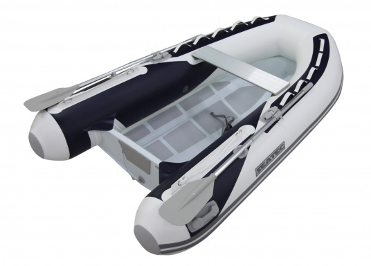 Let the adventures begin! The sturdy inflatable boats of the SEATEC PRO ADVENTURE series convince with their aluminum flooring and high-quality, weather-resistant polyurethane coatings, making them suitable for professional use in demanding conditions. (Image 2 of 13)