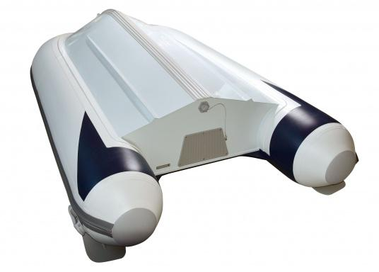 Aluminium floor dinghy from below