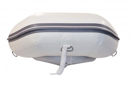 Das neue SEATEC Schlauchboot AEROTEND 240 vereint alle Vorteile der Lattenbodenboote und Festrumpfschlauchboote in einem: stabiles, festes Unterwasserschiff, sehr gute Fahreigenschaften, geringes Gewicht und hohe Tragkraft. (Bild 7 von 11)