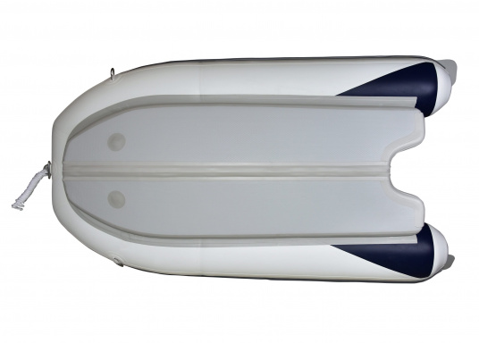 The new SEATEC AEROTEND 310 yacht tender combines all the advantages of slatted bottom boats and rigid inflatable boats in to one: a stable hull, very good handling characteristics, low weight and high load capacity. (Image 6 of 15)