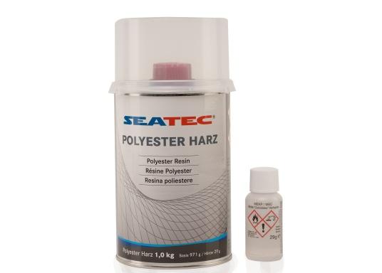Für Beschichtungen und zur Herstellung von GFK-Teilen im Bootsbau, Industrie und Hobby geeignet. Das Polyester Harz kann für ständig wasserbelastete Bereiche eingesetzt werden. (Bild 2 von 3)