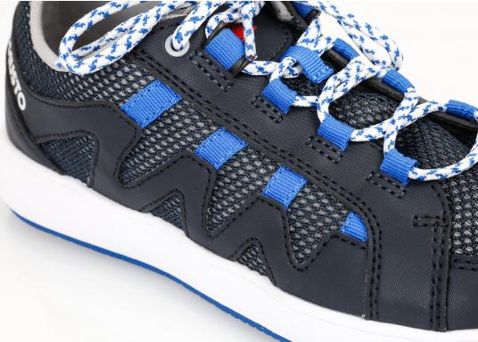 Der richtige Schuh für sportliches Segeln. Das schnell trocknende Mesh-Material und die griffige Decksohle, bestehend aus einer rutschfesten Gummimischung, sorgt für sicheren Halt auf nassen Oberflächen. Der Bootsschuh NAUTIC SPEED von musto bietet optimalen Lauf- und Klimakomfort. (Bild 8 von 8)