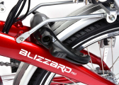 BLIZZARD PRO Electric Folding Bike / racing red