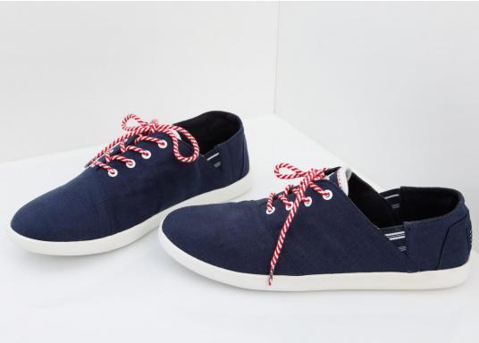 Modischer Canvas Damenschuh der Marke TBS in der Farbe marine blau. Der Schuh ist äußerst komfortabel zu tragen und passt sich dank des geschmeidigen Materials optimal an die Fußform an. (Bild 6 von 12)