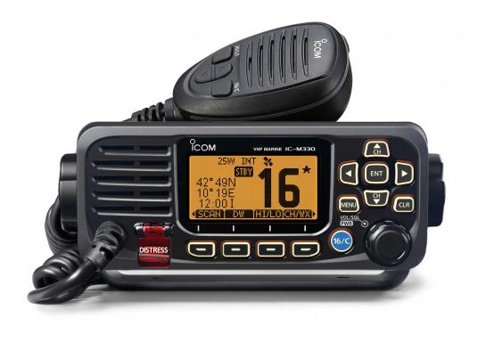 Compact VHF radio at an attractive price. This Class D device with built-in GPS receiver and DSC controller, including ATIS, offers easy and intuitive operation and a large, easy-to-read dot-matrix display.