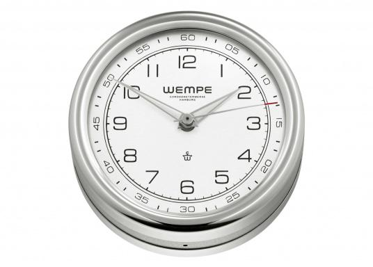 This timelessly elegant 100mm quartz clock is the highlight of the PILOT V Series by WEMPE.