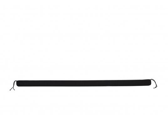 Praktische Relingsdrahtpolsterung, die ein angenehmes Anlehnen an der Reling ermöglicht. Der Bezug beteht aus einem nahtlosem und UV-Beständigem Polyester. Länge: 1 m. Farbe: schwarz. (Bild 4 von 4)