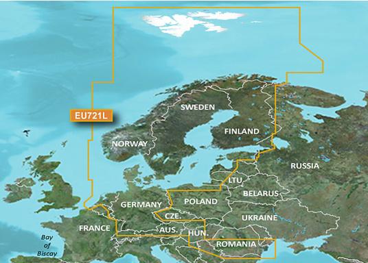 Fahrtgebiet BlueChart g3-Vision EU721L: Nordeuropa