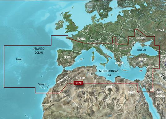 BlueChart g3 Vision EU723L: Europa meridionale, Atlantico, Mediterraneo e Mar Nero