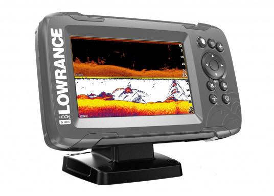 Die neue benutzerfreundliche HOOK² Serie von Lowrance bietet die optimale Lösung der Kombination: Fishfinder und GPS-Plotter.Der LOWRANCE®HOOK²-5x ist ein Fischfinder/GPS-Plotter der Ihnen bewährte Eigenschaften mit einem hervorragenden Preis-Leistungs-Verhältnis bietet – und das in der gewohnt hohen Qualität, die Angler von Lowrance erwarten dürfen. (Bild 2 von 4)