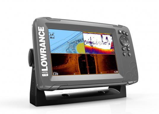 Die neue benutzerfreundliche HOOK² Serie von Lowrance bietet die optimale Lösung der Kombination: Fishfinder und Kartenplotter.Der LOWRANCE®HOOK²-7 ist ein Fischfinder/Kartenplotter der Ihnen bewährte Eigenschaften mit einem hervorragenden Preis-Leistungs-Verhältnis bietet – und das in der gewohnt hohen Qualität, die Angler von Lowrance erwarten dürfen. (Bild 3 von 3)