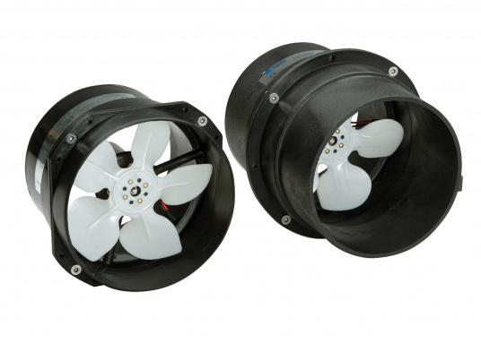 The MATRO compact in-line engine room fan comes in a durable plastic housing which is ideal for bulkhead installation.