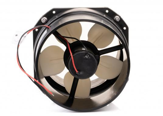 The MATRO compact in-line engine room fan comes in a durable plastic housing which is ideal for bulkhead installation. (Image 3 of 3)