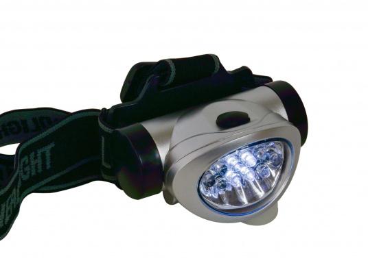 Praktischer Miniatur-Stirnscheinwerfer - so haben Sie immer beide Hände frei! Die LEDs bieten eine lange Lebensdauer von ca. 100.000 Stunden. Mit 3 Microbatterien können Sie bis zu 120 Stunden Leuchtdauer erreichen.