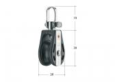 S block with swivel / 8 mm / ball bearing