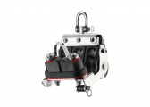 S Mainsheet Block with Swivel, Becket and Cleat / 8 mm / plain bearing
