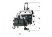 S-Block bozzello con grillo girevole, arricavo e morsetto / 8 mm / Cuscinetto a scorrimento