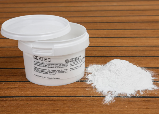 Excellent for filling. Blends well with the epoxy blend and creates a smooth surface that is easy to grind. Content: 200 g.