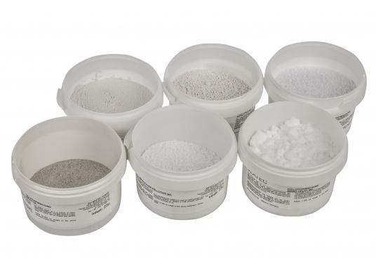 Zusammensetzung aus Mikrokugeln und Verdickungsmittel. Der Spachtel härtet weiß aus, kann gut geformt und geschliffen werden.Inhalt: 25 g. (Bild 2 von 2)
