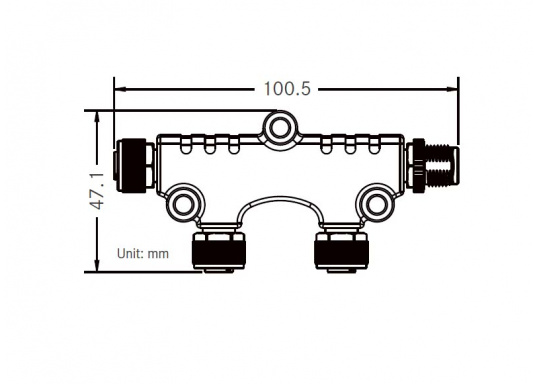 NMEA2000 Micro-C 2-fach Verteiler zum Anschluss mehrerer Geräte an das NMEA2000 Netzwerk. (Bild 5 von 5)