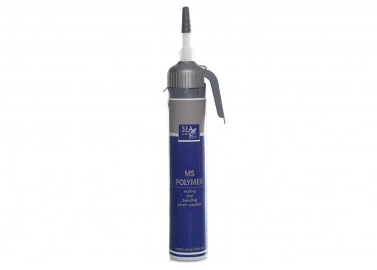 SEA LINE MS Poymer zum Dichten und Kleben ist UV- beständig und wasserfest. Sehr gute Haftung auf vielen Untergründen / Materialien (GFK, Holz, Glas, Metall, Stahl, Aluminium, versiegelten und lackierten Oberflächen).