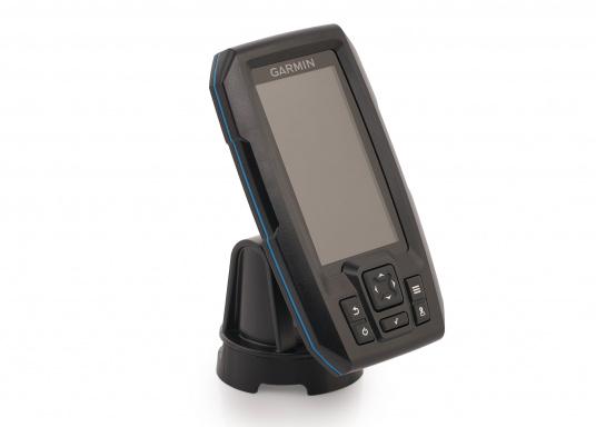 """Die neue STRIKER Plus Serie von Garmin überzeugt mit nicht zu überbietenden Aufzeichnungen und integriertem GPS. So können Sie Ihre Lieblingsspots zum Angeln oder andere Wegpunkte markieren um problemlos den Weg dorthin zurückzufinden.Der STRIKER Plus 4 verfügt über ein wasserdichtes 4,3"""" Display und wird inkl. Garmin Dual-Beam Geber geliefert. (Bild 2 von 4)"""