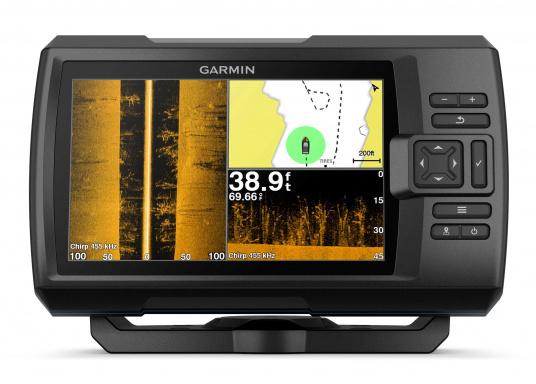 """Die neue STRIKER Plus Serie von Garmin überzeugt mit nicht zu überbietenden Aufzeichnungen und integriertem GPS. So können Sie Ihre Lieblingsspots zum Angeln oder andere Wegpunkte markieren um problemlos den Weg dorthin zurückzufinden.Der STRIKER Plus 7sv verfügt über ein wasserdichtes 7"""" Display und wird ohne Geber geliefert. (Bild 3 von 8)"""